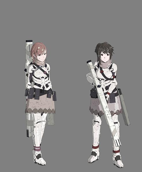 左:タエ(CV:洲崎綾さん)、右:づる(CV:雨宮天さん)